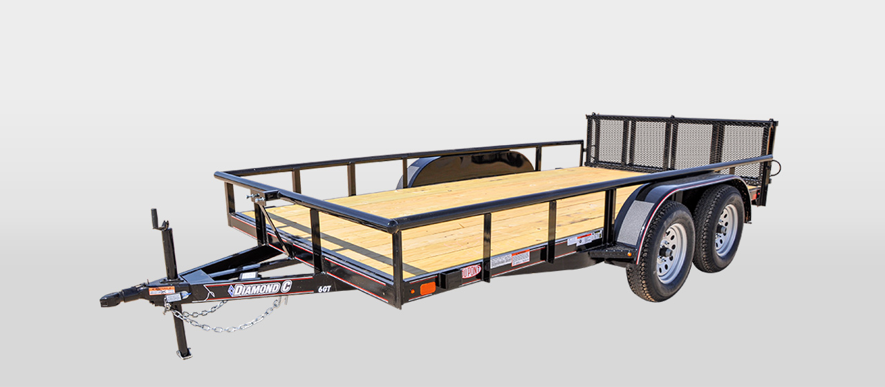 DC All Around Tandem Axle Utility Trailer - 7,000 lb GVWR