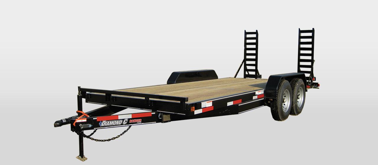 Flatbed Equipment Trailer - GVWR 12,000 lbs
