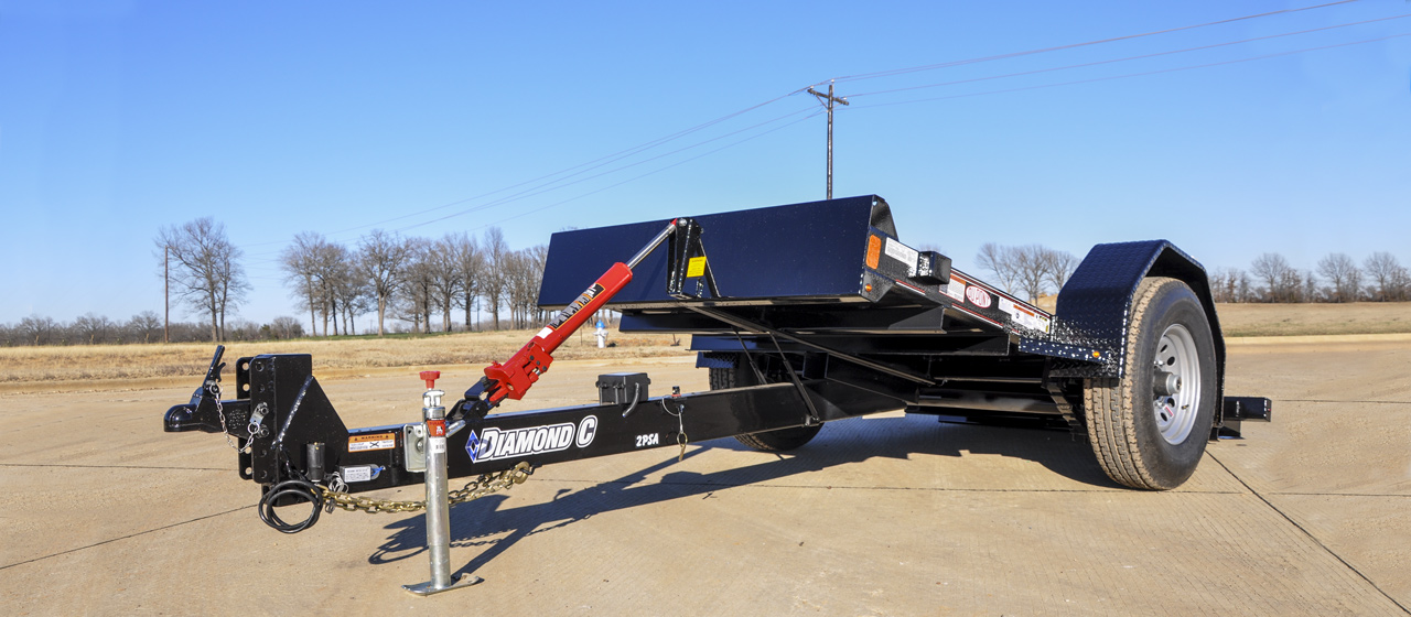 Hydraulic Dampened Single Axle Tilt - GVWR 7,000 lbs