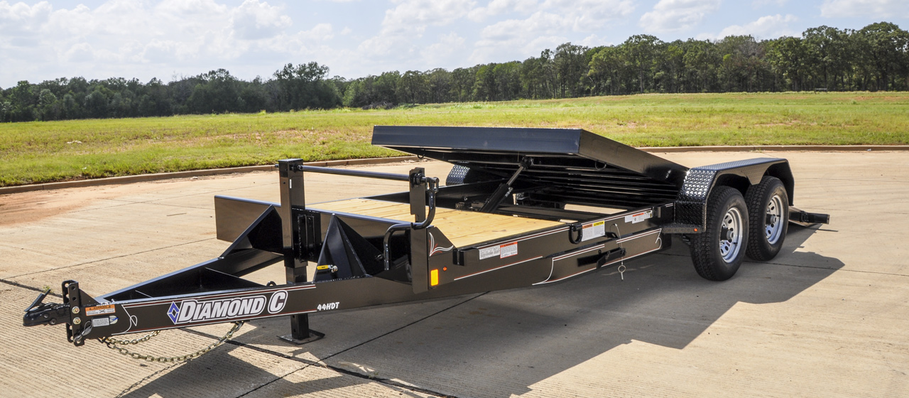 Hyrdraulic Dampened Single Axle Tilt Trailer- GVWR 7,000 lbs