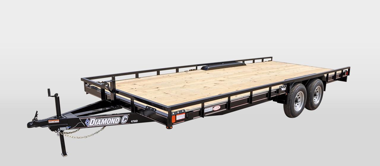 DC Mid-Deck Tandem Utility Trailer - 7,000 lb GVWR