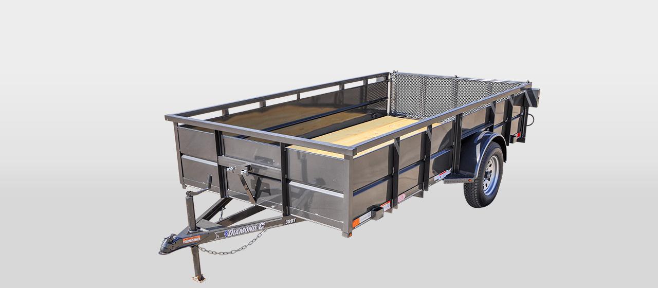 DC Roustabout Single Axle Utility Trailer - 2,990 lb GVWR