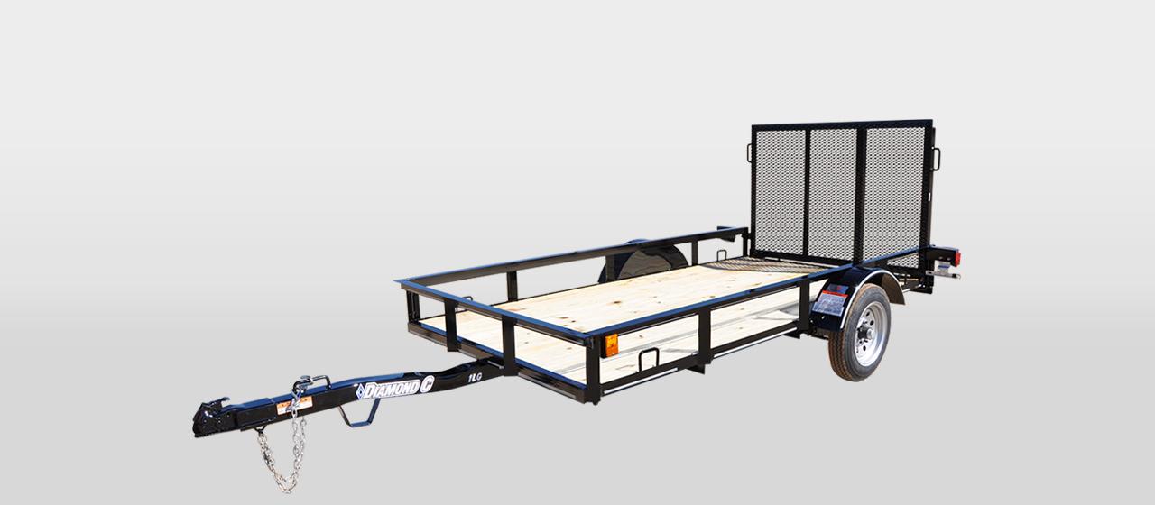 DC Single Axle Utility Trailer - 1,500 lb GVWR