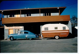 Heacock Welding Anaheim, Circa 1956.  Ed Heacock resided in the apartment above this shop.