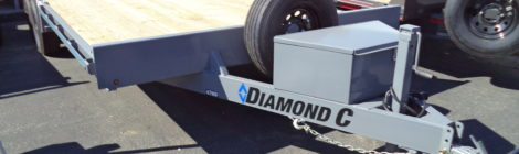 8X20 Diamond C 47MD MID-DECK TANDEM UTILITY TRAILER (3984)