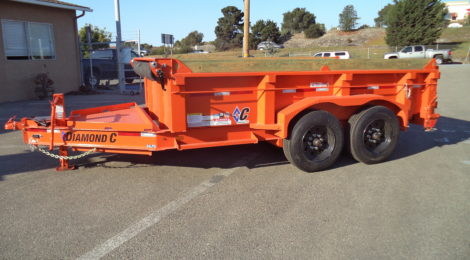 7x12 Diamond C 24LPD HEAVY DUTY LOW PROFILE DUMP TRAILER (4829)