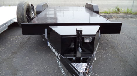 7x18 Diamond C Steel Deck Trailer(1110)
