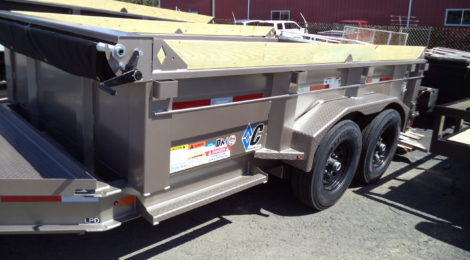 7x12  Diamond C Low Profile Dump Trailer(2169)