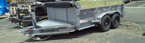 Diamond C 7x12 Dump Trailer LPD207 (4441)