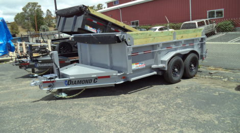 Diamond C 7x12 Dump Trailer LPD207 (4441)
