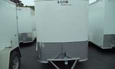 Look 5x8 Round Front Flat Top Enclosed Trailer(2750)