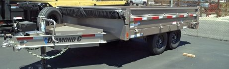 Diamond C 8x12 Deck-over Dump Trailer(3764)