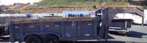 Diamond C 7x14 Low Profile Fleetneck Dump Trailer(0863)